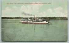 Washington~New Ferry City Of Vancouver~Vintage Postcard