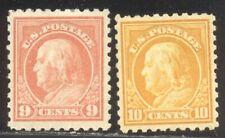 U.S. #432-33 Mint - 9c - 10c Franklin, P10 ($80)