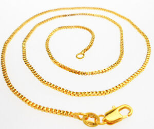 "Wholesale Sale 5PCS 16""-30"" Jewelry 18K GOLD FILLED BOX Link Chain Necklace NEW"