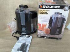 Black and Decker Juice Extractor 400 Watt #JE2200B  NIB