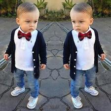 Children's Clothing Boy Gentleman Jacket + Shirt + Jeans Suit Dress
