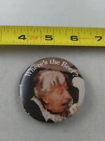 Vintage Wendy's WHERE'S THE BEEF? Advertising 1980's pin button pinback *EE80