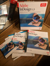 Adobe InDesign 1.5 for for Apple Macintosh Mac w/Original Box & Manual + 1.0 CD