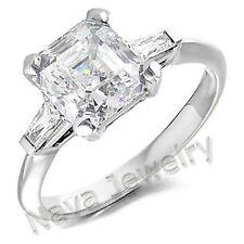 2.01 Ct. Asscher Cut & Baguette Cut Diamond Ring