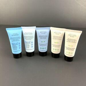 H2O Therapy 5 Piece Travel Lot 1 fl oz each Shampoo Conditioner Lotion Body Wash