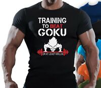Mens Muscle Fit T Shirt Bodybuilding Crossfit Gym Top For Goku/Dragonball Z Fans