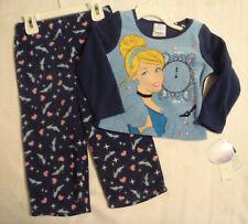 DISNEY 2T Cinderella Polyester Fleece Long Sleeve Pajama Sleepwear Set NWT