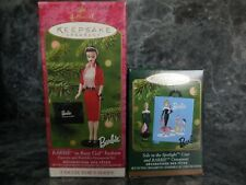 2 hallmark keepsake barbie ornaments/new