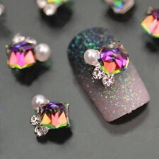 10PCS Alloy 3D Glitter Multicolor Rhinestone Nail Art Tips Decor Fashion Jewelry
