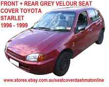 PLAIN GREY CUSTOM MADE SEAT COVER FIT TOYOTA STARLET, 1996 - 1999