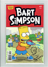 BART SIMPSON #77 IAN BOOTHBY SIGNED AND LISA SIMPSON ORIGINAL ART SKETCH