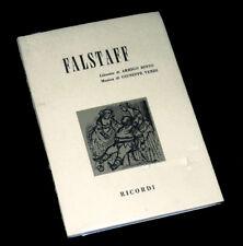 Falstaff livret seul Boïto opéra Verdi 1967