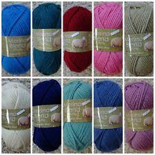 Knitting Wool 50g Ball Merino 100% Wool Chunky Knitting Wool Yarn King Cole
