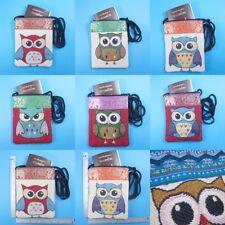 Thai Owl Graphic Hmong Shoulder Bag Purse Wallet Phone Crossbody Passport Travel