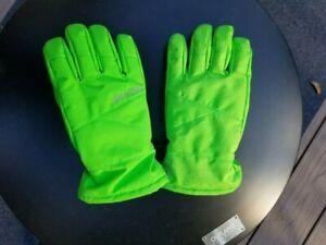 Spyder Girls/Boys Ski/Snow Gloves Large Flash Green