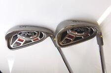 Set 2 x Ping G15 Yellow Dot Irons 5 & 6 Ping AWT R Flex Steel Shafts Ping Grips