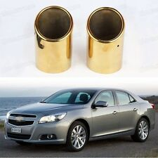 2x Golden Exhaust Muffler Tail Pipe Tip Tailpipe for Chevrolet Malibu 2013-2014