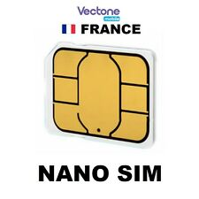 VECTONE MOBILE FRANCE CARTE NANO SIM PREPAYEE Réseau SFR GSM FRENCH PREPAID CARD