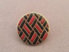Antique Enamel 18 K Gold French Button