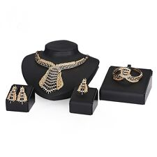 African 18K Gold Plated Jewelry Sets Fashion Women wedding Party Necklace Set