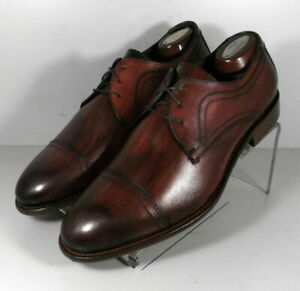 242613 MSi60 Men's Shoes Size 9 M Burgundy Leather Made in Italy Johnston Murphy