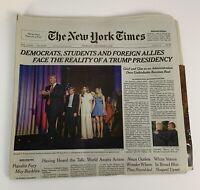 TRUMP New York Times November 10 2016 FACE THE REALITY OF A TRUMP PRESIDENCY NYT