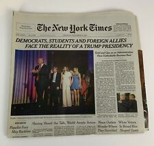 TRUMP New York Times November 10 2016 FACE THE REALITY OF A TRUMP PRESIDENCY NYT