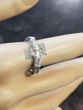 STERLING SILVER 2.03ct MOISSANITE CZ BEAUTIFUL RING #BR