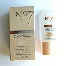 No7  Custom Blend Hightlighting Drops 15ml - WHITE GOLD