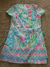Lilly Pulitzer Blanca Stretch Romper Womens Size 4 Multi Coral Bay Engineered...