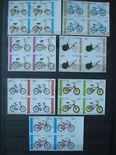 VIETNAM 1988 BLOCS OF 4 / IMPERFORATED USED / BICYCLES velos