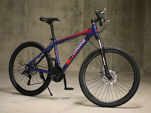 """Unisex Mountain Bike Bicycle Hybrid 26"""" Men Women Shimano 21 Speed 17"""" Frame"""