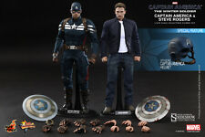 Hot Toys Captain America Steve Rogers Figure Set Winter Soldier 1/6 Scale NEW