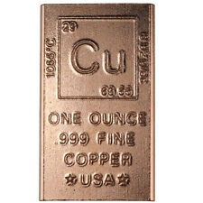 1 Oz Copper Bars Lot Of 16 Bullion