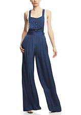 NWT $495  Elizabeth and James Mary Ann pin-dot navy overalls jumpsuit wide leg 6