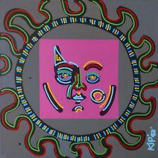 "KIP FRACE ""SUN"" 1992 | ORIGINAL ACRYLIC/CANVAS | LARGE 47 X 47"" | MAKE AN OFFER"
