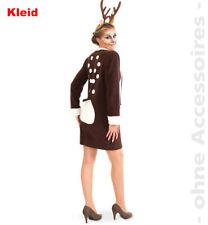 Reh Kitz Damen Rehkleid Wald Kostüm Rehkostüm Damenkostüm