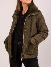 Giubbotto donna piumino corto invernale nuovo verde cappotto giacca da XS M slim