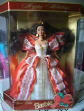 NEUF - Poupée Barbie Happy Holidays 1997 brune Noel Special Edition Mattel