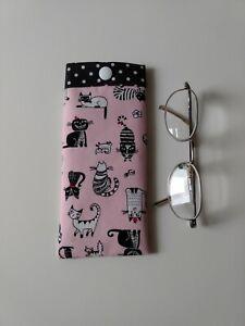 Glasses Case/Pouch Handmade In Designer Fabric. Lovely Gift. New.
