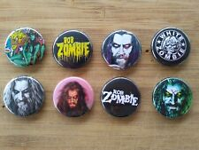"8 1"" Rob Zombie pinback badges buttons"