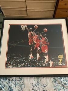 Michael Jordan Autographed UDA COA 16x20 Limited Edition #/223 Triple Exposure