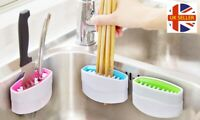 Non-Scratch Utensil Knife Fork Spoon Cutlery Cleaning Suction Sink Brush