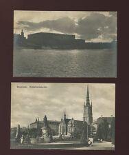 Sweden STOCKHOLM x5  night views 1920s RP PPCs