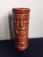 "TIKI FARM 2003 Squid Tiki God Embossed Face 7"" Drink Tumbler Brown MINT COND"