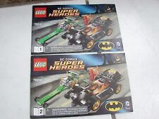 Lego Batman Riddler Chase 76012 Instructions Only Book 1&2