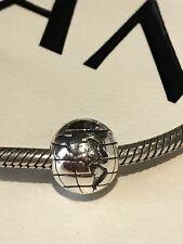 Pandora Charm Clip Globe World 925/S925 ALE Sterling Silver