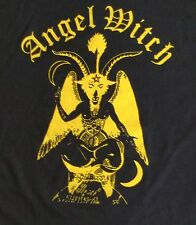 ANGEL WITCH Mens T Shirt Large Black UK Heavy Metal Band Short Sleeve