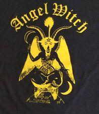 ANGEL WITCH Mens T Shirt Large Black UK Heavy Metal Band Short Sleeve