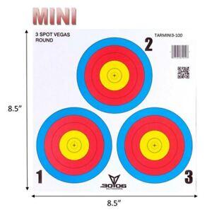 50pk Mini 3 Spot Vegas Target Face